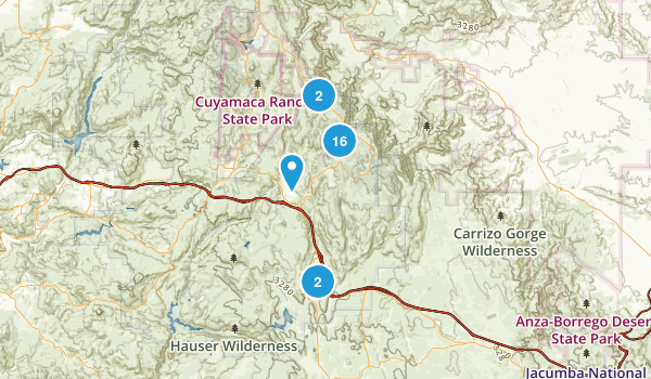 Pine Valley, California Hiking Map
