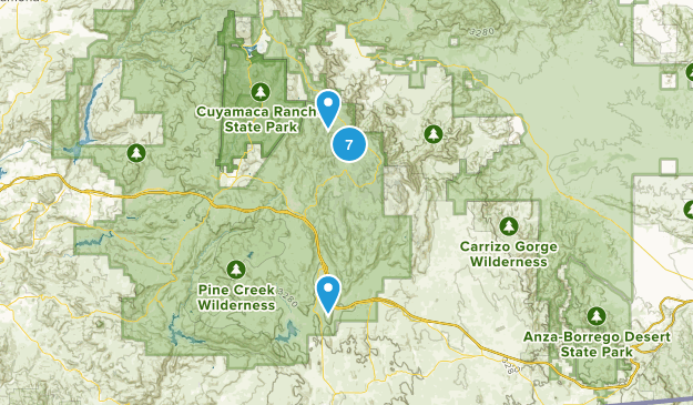 Pine Valley, California Kid Friendly Map
