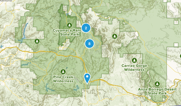 Pine Valley, California Trail Running Map
