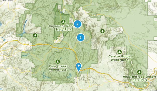 Pine Valley, California Trail Running Map