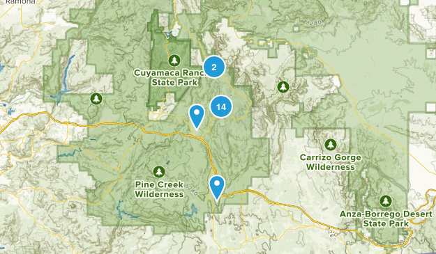 Pine Valley, California Walking Map