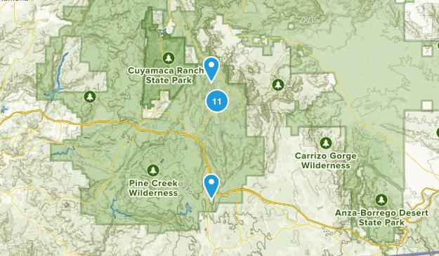 Pine Valley, California Wildlife Map