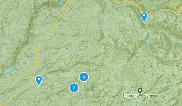 Pinecrest, California Backpacking Map