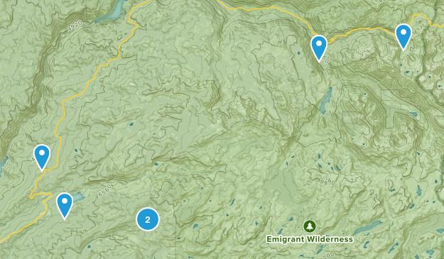 Pinecrest, California Waterfall Map