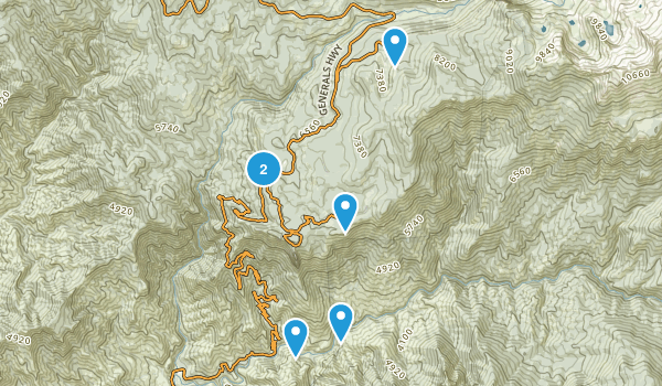 Pinewood, California Nature Trips Map