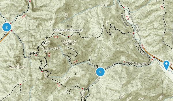Pinnacles, California Walking Map
