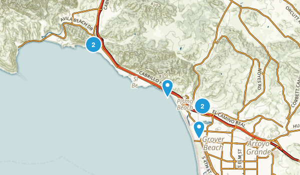 Pismo Beach, California Hiking Map