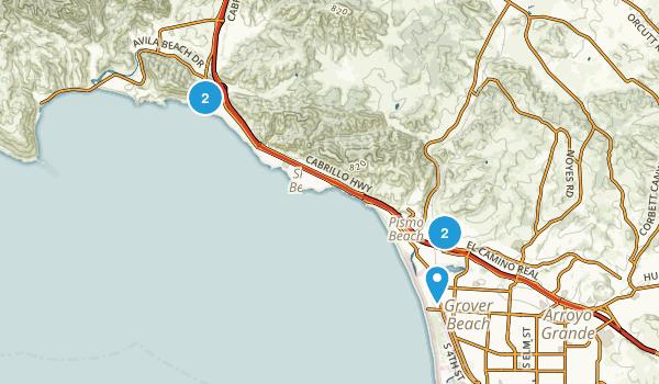 Pismo Beach, California Walking Map