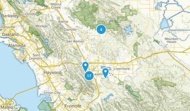 Pleasanton, California Birding Map