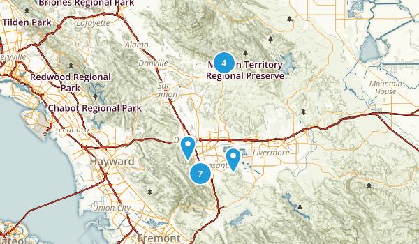 Pleasanton, California Hiking Map