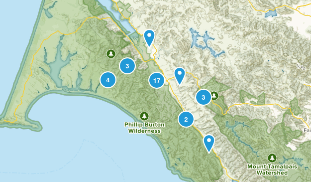 Point Reyes Station, California Nature Trips Map