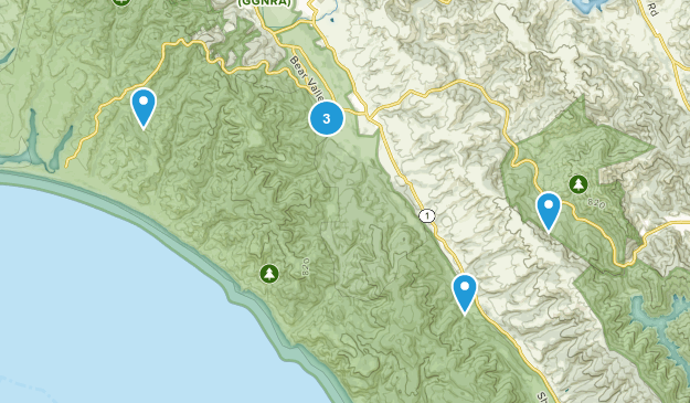 Point Reyes Station, California River Map