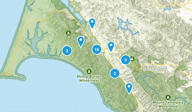 Point Reyes Station, California Trail Running Map