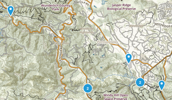 Portola Valley, California Forest Map