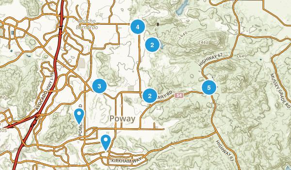 Poway, California Trail Running Map