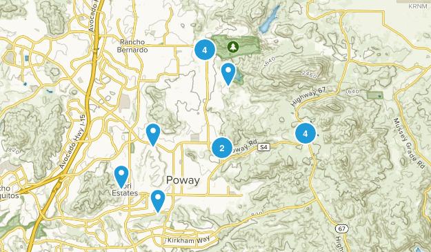 Poway, California Walking Map