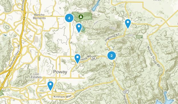 Poway, California Wild Flowers Map