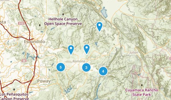 Ramona, California Hiking Map