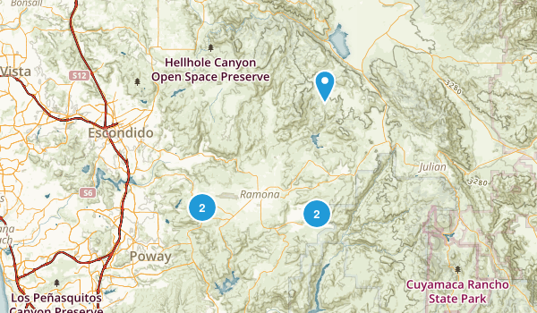 Ramona, California Mountain Biking Map