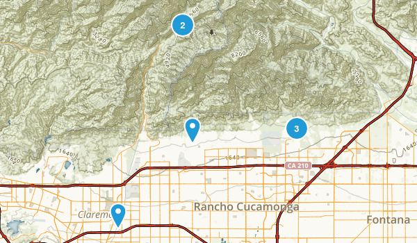 Rancho Cucamonga, California Birding Map