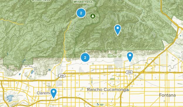 Rancho Cucamonga, California Nature Trips Map