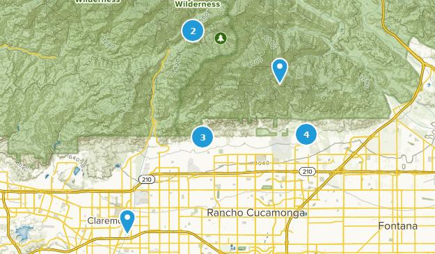 Cucamonga California Map.Best Views Trails Near Rancho Cucamonga California Alltrails