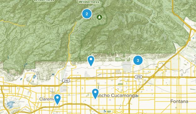 Rancho Cucamonga, California Walking Map