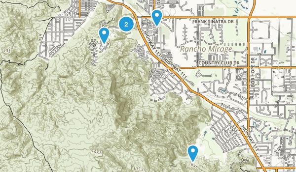 Rancho Mirage, California Hiking Map