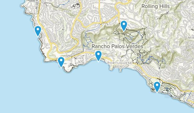 Rancho Palos Verdes, California Beach Map