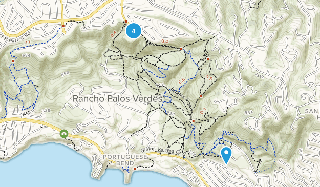 Rancho Palos Verdes, California Horseback Riding Map