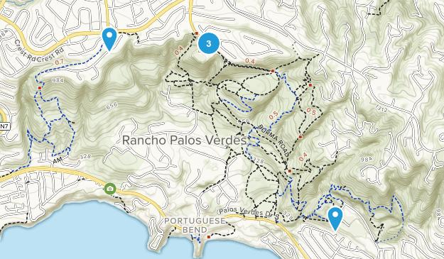 Rancho Palos Verdes, California Mountain Biking Map