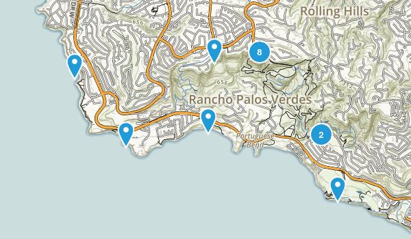 Rancho Palos Verdes, California Trail Running Map