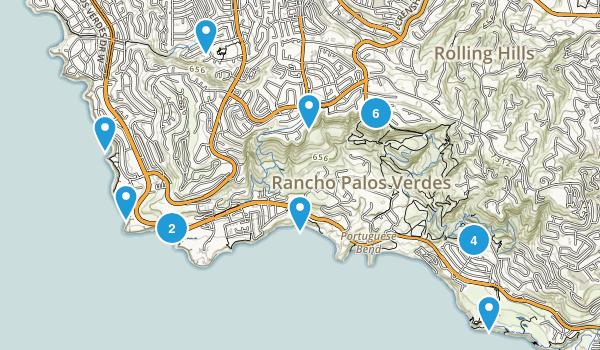 Rancho Palos Verdes, California Walking Map
