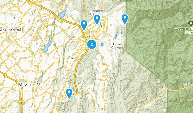 Rancho Santa Margarita, California Forest Map