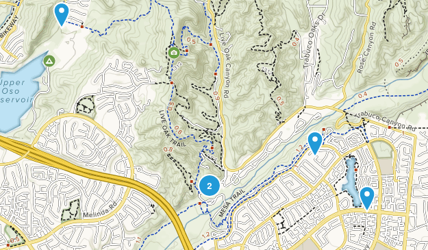 Rancho Santa Margarita, California Kid Friendly Map
