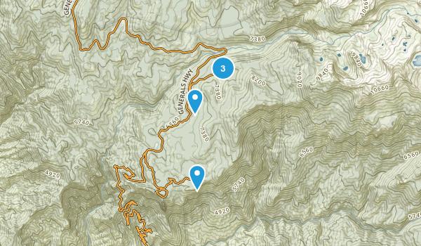 Red Fir, California Snowshoeing Map