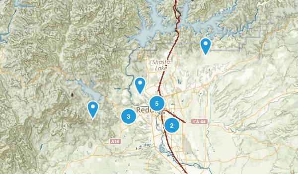 Redding, California Nature Trips Map