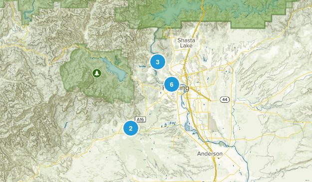 Redding, California River Map