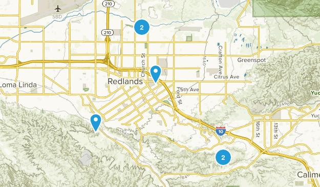 Redlands, California Birding Map