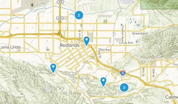 Redlands, California Nature Trips Map