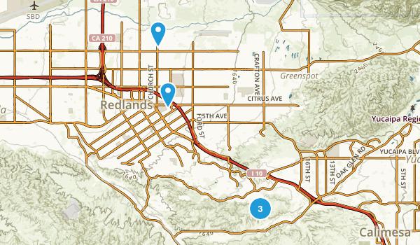 Redlands, California Wildlife Map