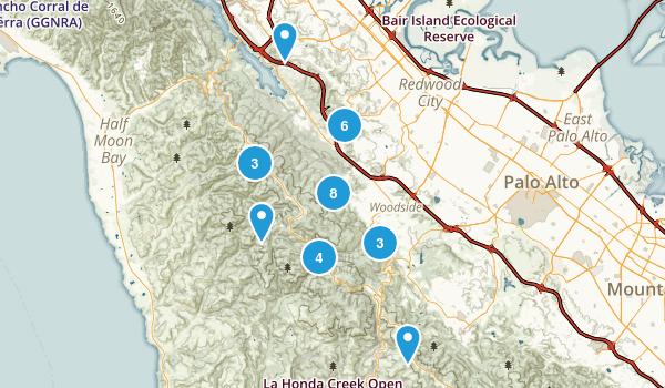 Redwood City, California Birding Map