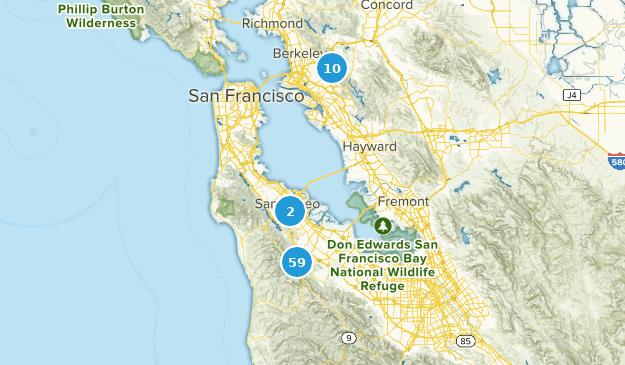 Redwood City, Kalifornien Hiking Map