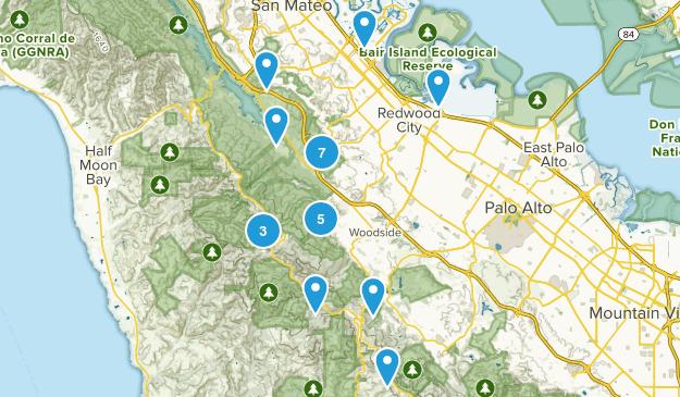 Redwood City, California Kid Friendly Map
