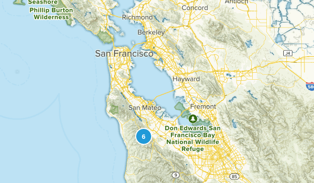 Redwood Park, California Nature Trips Map
