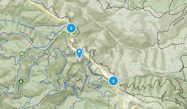 Redwood Park, California Views Map