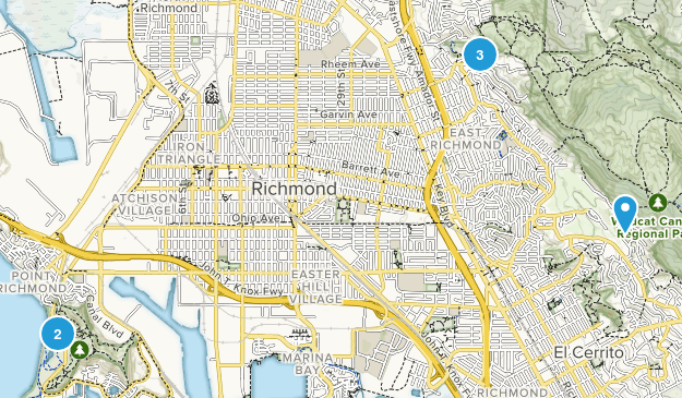 Richmond, California Forest Map