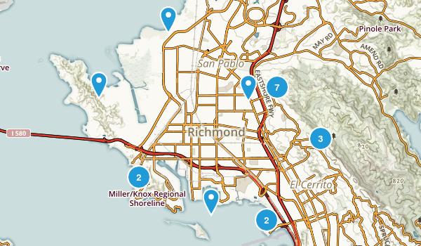 Richmond, California Hiking Map
