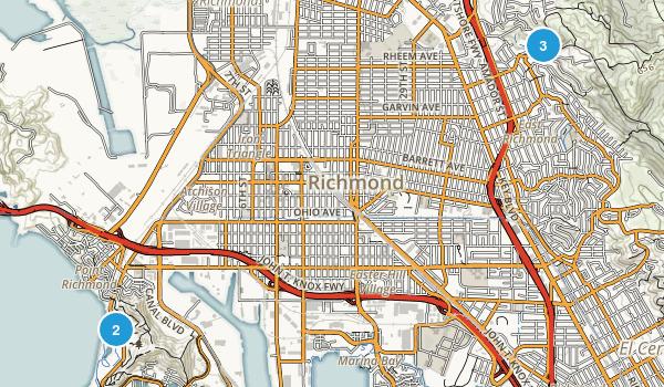 Richmond, California Mountain Biking Map