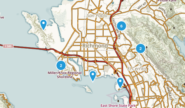 Richmond, California Trail Running Map